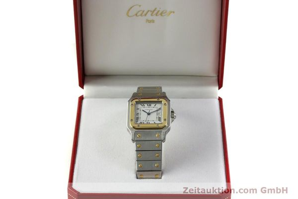 Used luxury watch Cartier Santos steel / gold automatic Kal. ETA 2671  | 151537 07