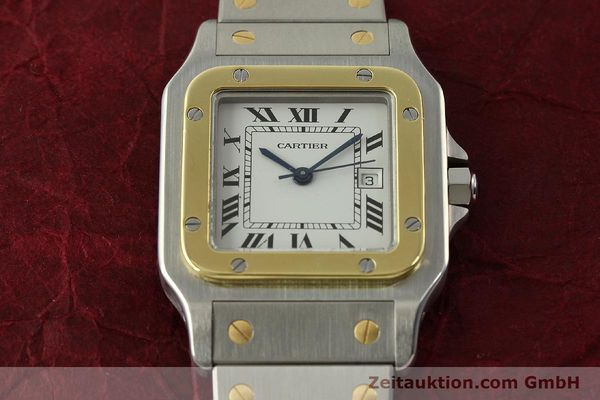 Used luxury watch Cartier Santos steel / gold automatic Kal. ETA 2671  | 151537 14