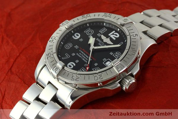 Used luxury watch Breitling Superocean steel automatic Kal. B17 ETA 2824-2 Ref. A17360  | 151540 01