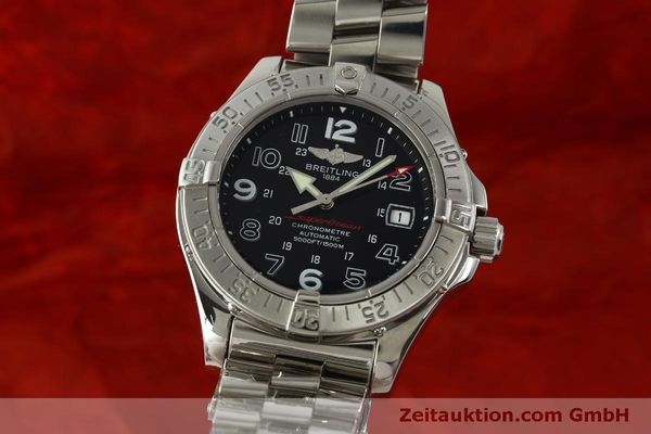 Used luxury watch Breitling Superocean steel automatic Kal. B17 ETA 2824-2 Ref. A17360  | 151540 04