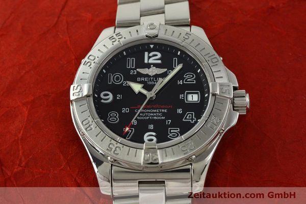 Used luxury watch Breitling Superocean steel automatic Kal. B17 ETA 2824-2 Ref. A17360  | 151540 18