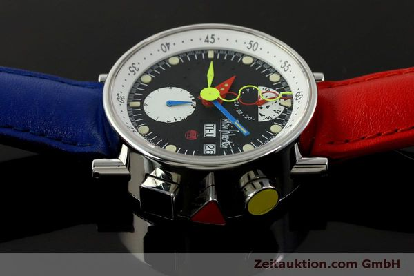 Used luxury watch Alain Silberstein Krono Bauhaus chronograph steel automatic Kal. LWO 5100 LIMITED EDITION | 151568 05