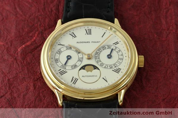 Used luxury watch Audemars Piguet Day-Date Moonphase 18 ct gold automatic Kal. 2124  | 151572 16