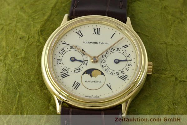 Used luxury watch Audemars Piguet Day-Date Moonphase 18 ct gold automatic Kal. 2124  | 151574 14