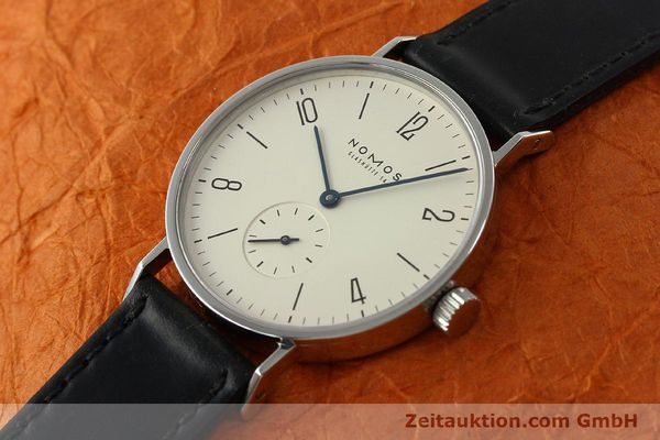 Used luxury watch Nomos Tangente steel manual winding Kal. ETA 7001 LIMITED EDITION | 151579 01