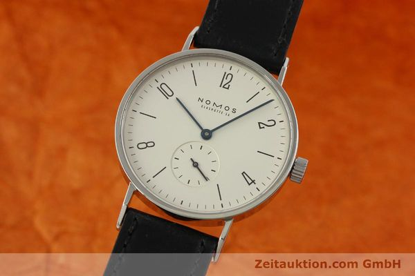 Used luxury watch Nomos Tangente steel manual winding Kal. ETA 7001 LIMITED EDITION | 151579 04