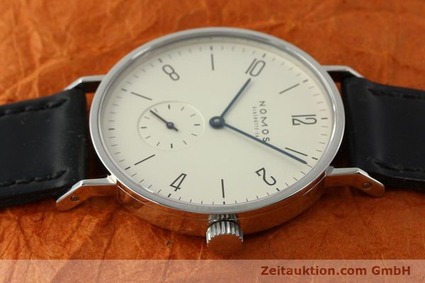 Used luxury watch Nomos Tangente steel manual winding Kal. ETA 7001 LIMITED EDITION | 151579 05