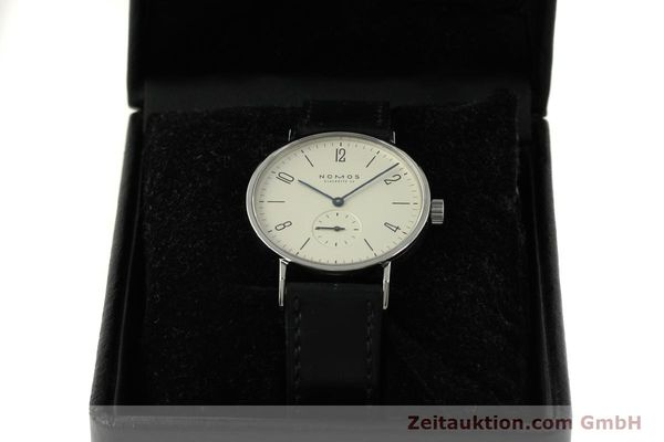 Used luxury watch Nomos Tangente steel manual winding Kal. ETA 7001 LIMITED EDITION | 151579 07