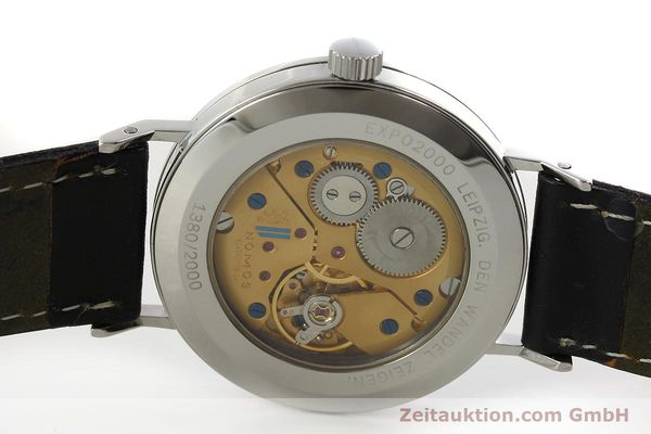 Used luxury watch Nomos Tangente steel manual winding Kal. ETA 7001 LIMITED EDITION | 151579 09