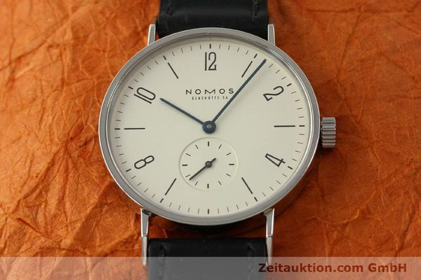 Used luxury watch Nomos Tangente steel manual winding Kal. ETA 7001 LIMITED EDITION | 151579 15