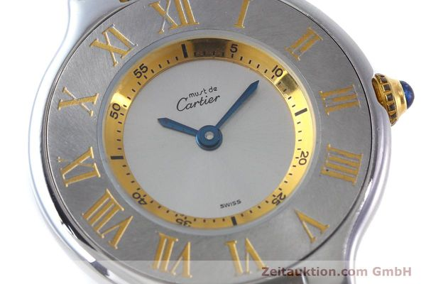 Used luxury watch Cartier Ligne 21 gilt steel quartz Kal. 690  | 151580 02