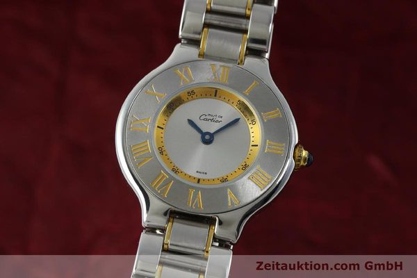 Used luxury watch Cartier Ligne 21 gilt steel quartz Kal. 690  | 151580 04