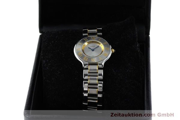 Used luxury watch Cartier Ligne 21 gilt steel quartz Kal. 690  | 151580 07