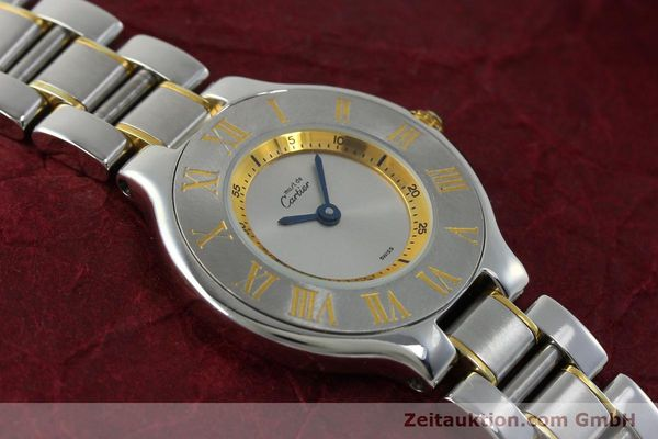 Used luxury watch Cartier Ligne 21 gilt steel quartz Kal. 690  | 151580 14