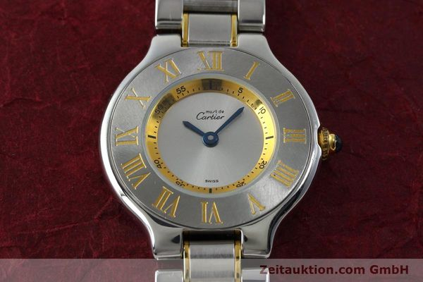 Used luxury watch Cartier Ligne 21 gilt steel quartz Kal. 690  | 151580 15