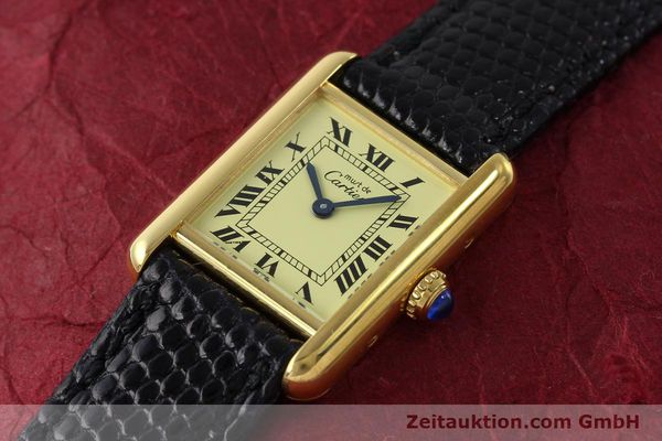 Used luxury watch Cartier Tank silver-gilt quartz Kal. 57  | 151584 01