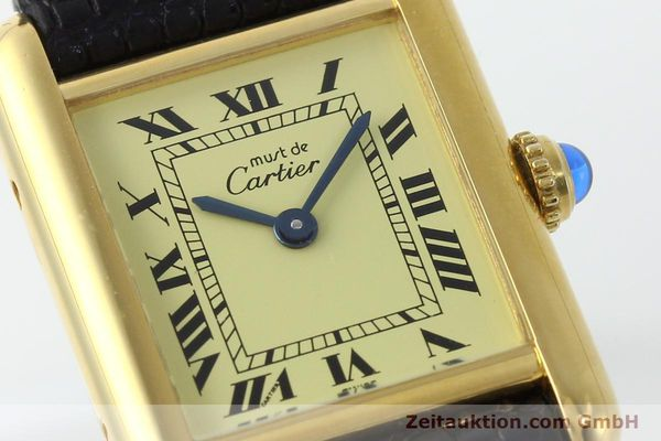 Used luxury watch Cartier Tank silver-gilt quartz Kal. 57  | 151584 02