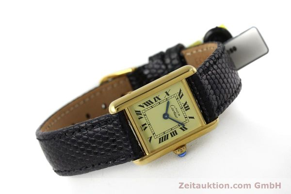 Used luxury watch Cartier Tank silver-gilt quartz Kal. 57  | 151584 03