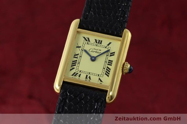 Used luxury watch Cartier Tank silver-gilt quartz Kal. 57  | 151584 04