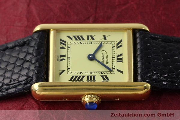 Used luxury watch Cartier Tank silver-gilt quartz Kal. 57  | 151584 05