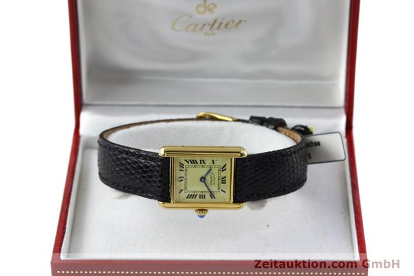 Used luxury watch Cartier Tank silver-gilt quartz Kal. 57  | 151584 07
