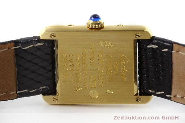 Used luxury watch Cartier Tank silver-gilt quartz Kal. 57  | 151584 09
