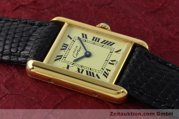 Used luxury watch Cartier Tank silver-gilt quartz Kal. 57  | 151584 11