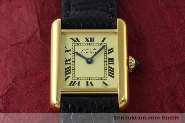 Used luxury watch Cartier Tank silver-gilt quartz Kal. 57  | 151584 12