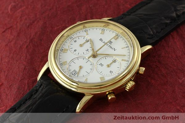Used luxury watch Blancpain Villeret chronograph 18 ct gold automatic Kal. 1186  | 151592 01