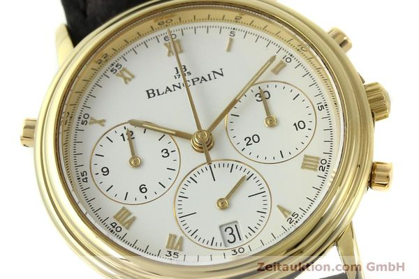 Used luxury watch Blancpain Villeret chronograph 18 ct gold automatic Kal. 1186  | 151592 02