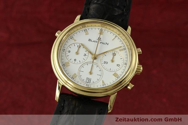 Used luxury watch Blancpain Villeret chronograph 18 ct gold automatic Kal. 1186  | 151592 04