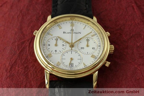Used luxury watch Blancpain Villeret chronograph 18 ct gold automatic Kal. 1186  | 151592 18