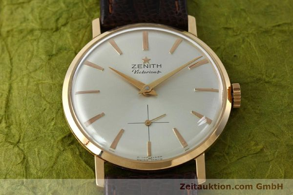 Used luxury watch Zenith Victorious 18 ct red gold manual winding Kal. 40-T VINTAGE  | 151599 14