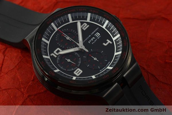 Used luxury watch Porsche Design Flat Six chronograph steel automatic Kal. ETA 7750 Ref. 6360.43  | 151624 14
