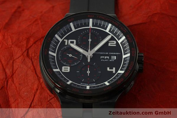 Used luxury watch Porsche Design Flat Six chronograph steel automatic Kal. ETA 7750 Ref. 6360.43  | 151624 15