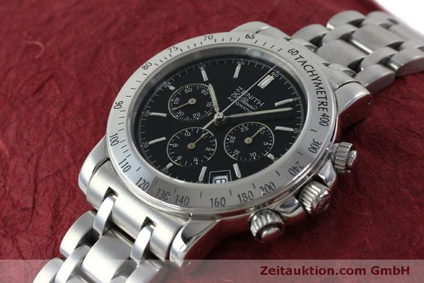 Used luxury watch Zenith Elprimero chronograph steel automatic Kal. 400 Ref. 02-0360-400  | 151647 01