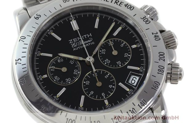 Used luxury watch Zenith Elprimero chronograph steel automatic Kal. 400 Ref. 02-0360-400  | 151647 02