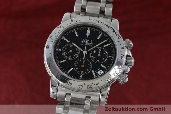 Used luxury watch Zenith Elprimero chronograph steel automatic Kal. 400 Ref. 02-0360-400  | 151647 04