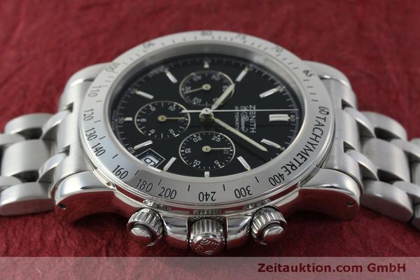 Used luxury watch Zenith Elprimero chronograph steel automatic Kal. 400 Ref. 02-0360-400  | 151647 05