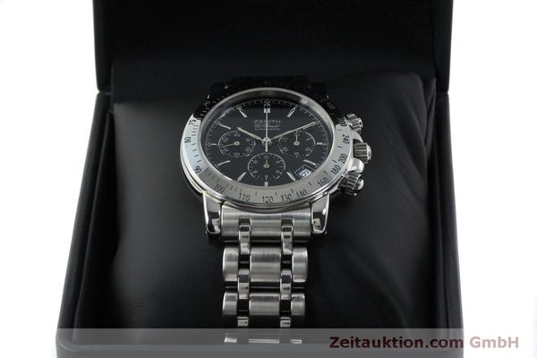 Used luxury watch Zenith Elprimero chronograph steel automatic Kal. 400 Ref. 02-0360-400  | 151647 07