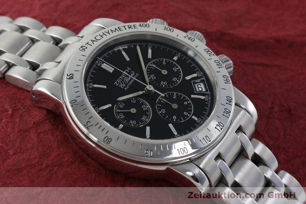 Used luxury watch Zenith Elprimero chronograph steel automatic Kal. 400 Ref. 02-0360-400  | 151647 13