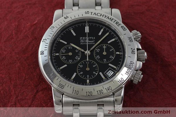 Used luxury watch Zenith Elprimero chronograph steel automatic Kal. 400 Ref. 02-0360-400  | 151647 14
