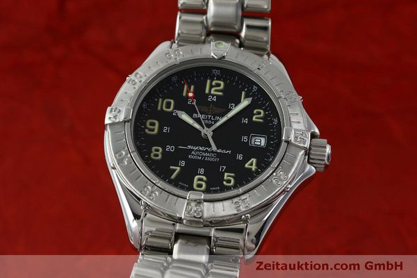 Used luxury watch Breitling Superocean steel automatic Kal. B17 ETA 2824-2 Ref. A17040  | 151651 04