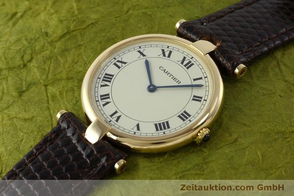 Used luxury watch Cartier * 18 ct gold quartz Kal. 81  | 151665 01