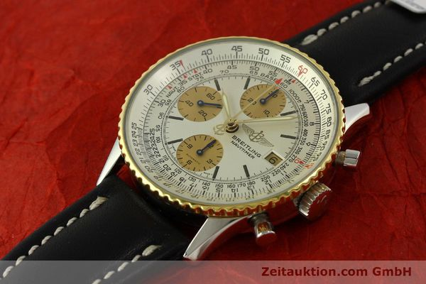 Used luxury watch Breitling Navitimer chronograph steel / gold automatic Kal. Valj.  7750 Ref. 81610  | 151667 01