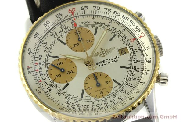 Used luxury watch Breitling Navitimer chronograph steel / gold automatic Kal. Valj.  7750 Ref. 81610  | 151667 02