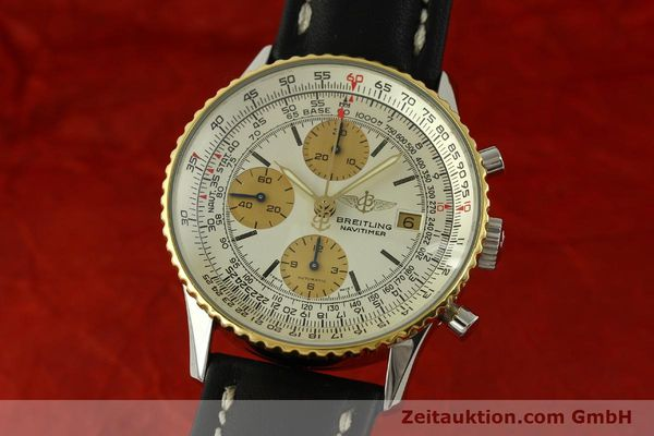 Used luxury watch Breitling Navitimer chronograph steel / gold automatic Kal. Valj.  7750 Ref. 81610  | 151667 04
