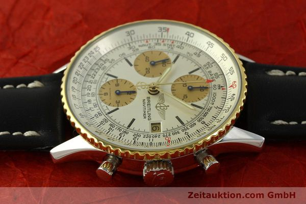 Used luxury watch Breitling Navitimer chronograph steel / gold automatic Kal. Valj.  7750 Ref. 81610  | 151667 05