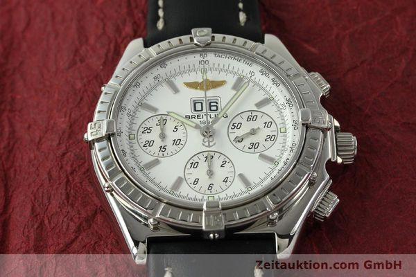 Used luxury watch Breitling Crosswind chronograph steel automatic Kal. B44 ETA 2892A2 Ref. A44355  | 151668 14