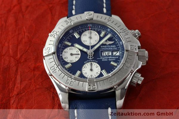 Used luxury watch Breitling Superocean chronograph steel automatic Kal. B13 ETA 7750 Ref. A13340  | 151669 14